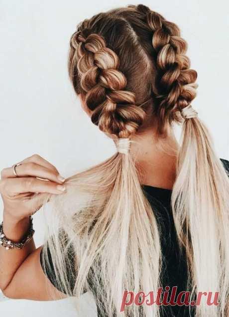braided balayage pigtails Pretty Hair in 2019 Волосы, Идеи для волос, Заплетенные волосы в Яндекс.Коллекциях