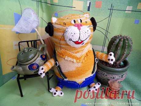 Кот Таити | Вязаные игрушки | HandMade39.ru – More фантазии!