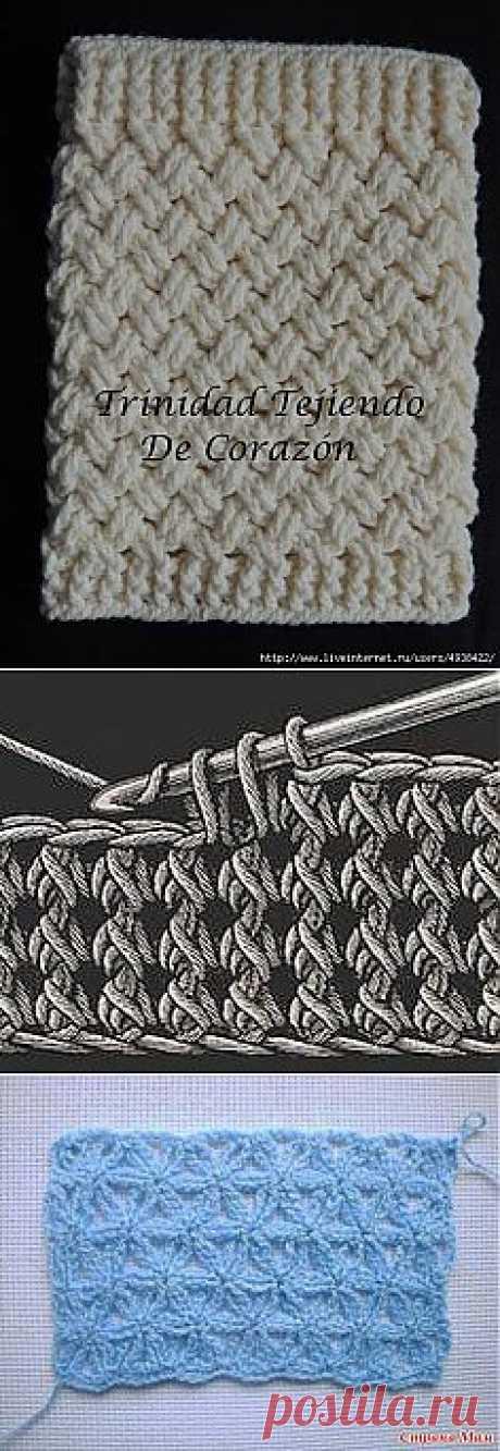 Узоры для вязания крючком. Подборка 45.
