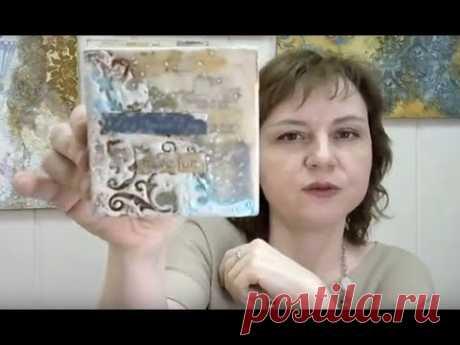 Фактурный эко коллаж энкаустика микс медиа и восковой медиум: видео мастер-класс Натальи Жуковой
