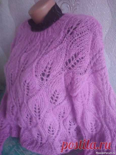 Мохеровый свитер | Вязание для женщин спицами. Схемы вязания спицами
