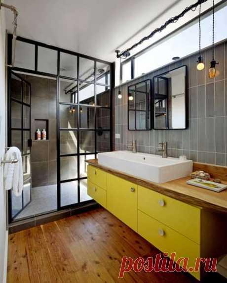 Дизайн ванной в стиле лофт | Домфронт