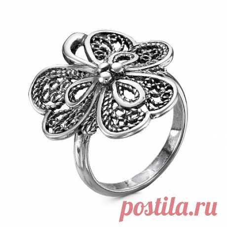 Кольцо 23010958 серебро, без вставок, производитель Красная Пресня - купить в интернет-магазине Серебряная птица