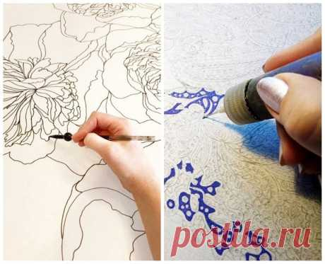 Батик: техника росписи на ткани — Мастер-классы на BurdaStyle.ru