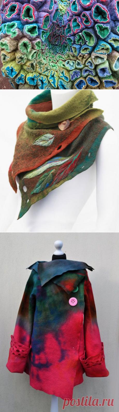 Валяные вещи: 29 оригинальных моделей одежды и аксессуаров - Ярмарка Мастеров - ручная работа, handmade