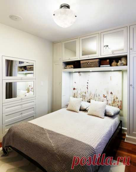 La cama y los armarios: los ejemplos de la instalación — Mi casa