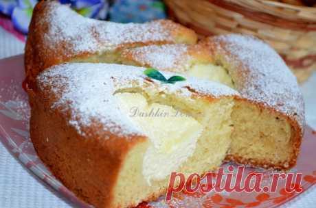Пирог на кефире с творогом | Дашкин Дом