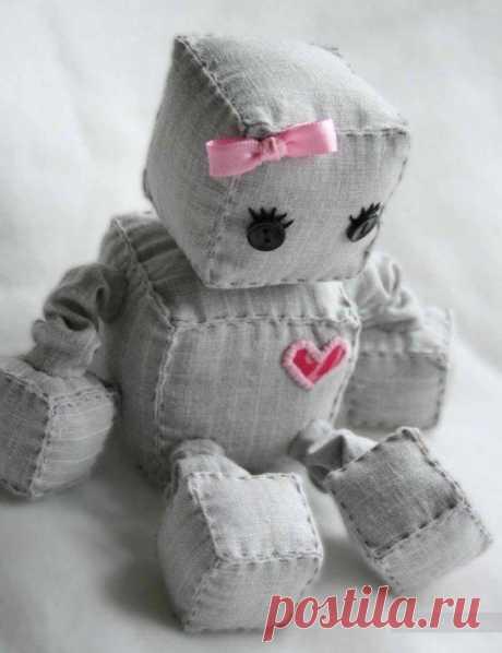 Шьем вместе с детьми: Мягкие игрушки-роботы — Делаем руками