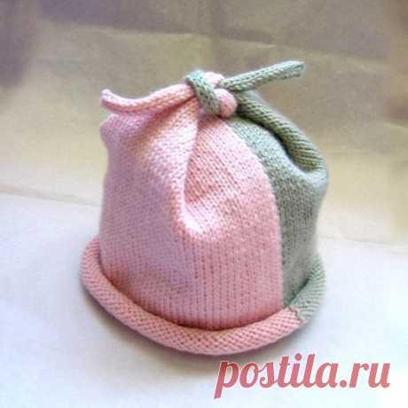необычная шапочка спицами - Самое интересное в блогах