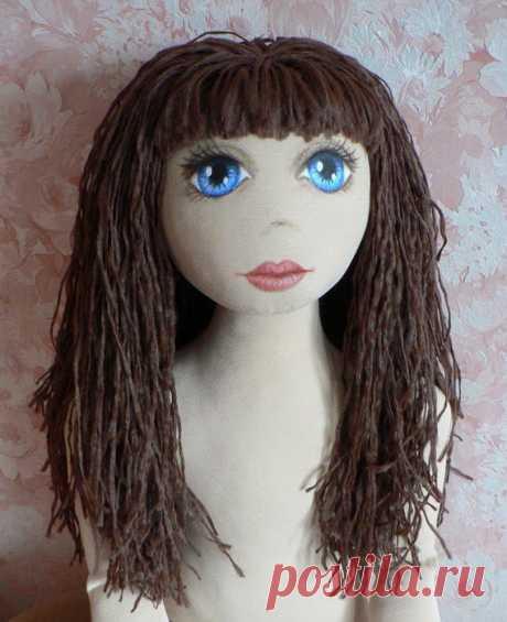 Boneca de Pano: cabelos - como aplicar