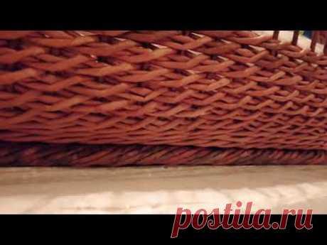 Веревочка ситцем. Плетение из газетных трубочек.