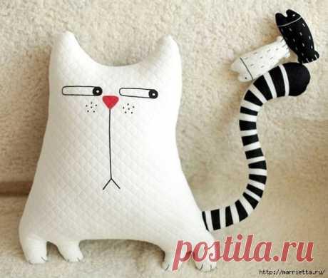 Смешная подушка-игрушка *Кошка*. Выкройка