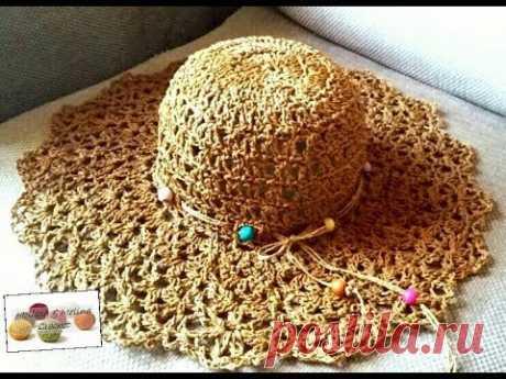 Chapeau1 Crochet  dentelle Raphia