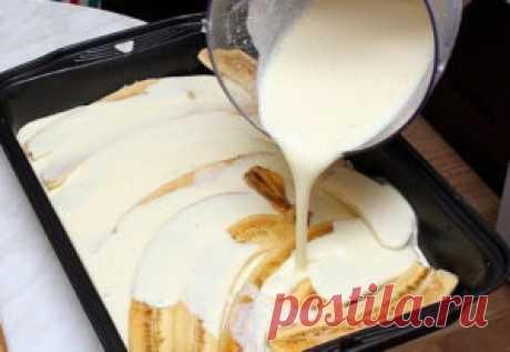 Лучшие кулинарные рецепты - Бананы с творогом и йогуртом
