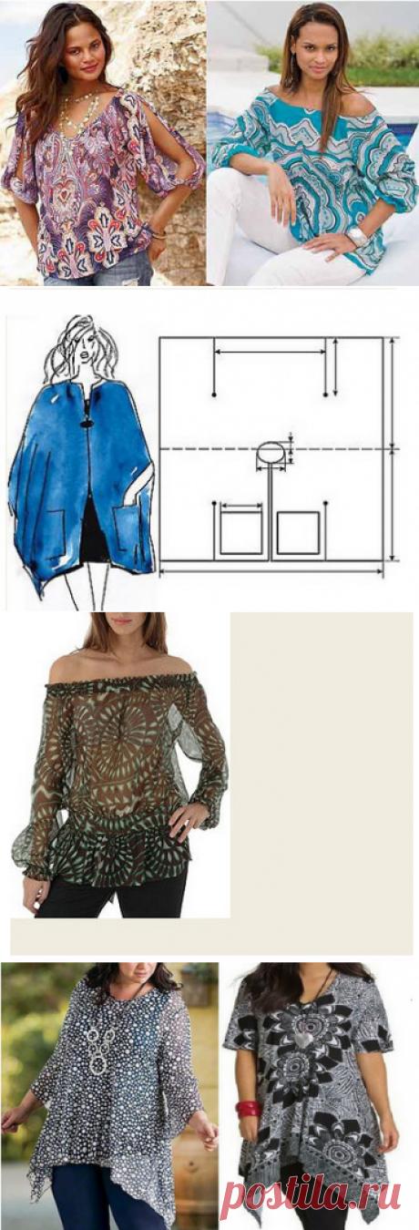 El patrón de la túnica - todas las dimensiones. ¡La colección grande de las túnicas veraniegas!