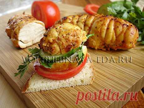 Пастрома из курицы Аппетитная и притом диетическая куриная колбаска в пряностях.