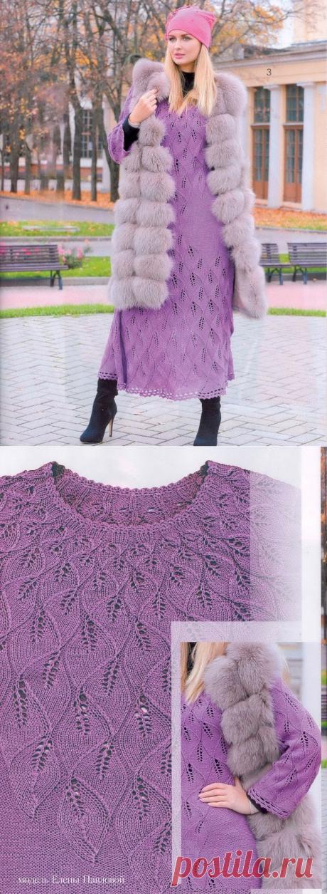 Сногсшибательное теплое платье спицами — HandMade