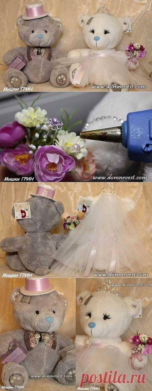 Наряды для свадебных мишек своими руками | Дом невест Мастер-класс по созданию костюмов для свадебных медвежат