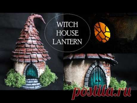 DIY Polymer Clay Witch House Lantern/Jar Tutorial // Maive Ferrando