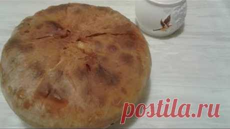 Пирог с мясом и картофелем. Тонкое тесто и сочная начинка.