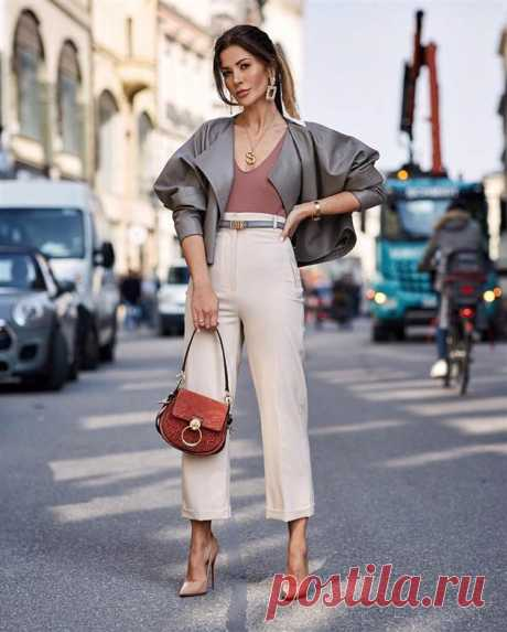 Разбираемся, что в тренде осенью 2019 — 15 стильных образов с модными женскими брюками   Люблю Себя