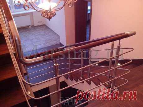 Изготовление лестниц, ограждений, перил Маршаг – Ограждения комбинированные лестничные