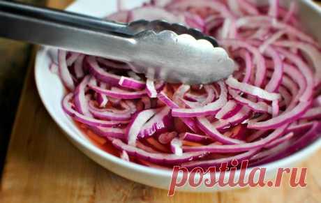 Маринованный лук для салатов, без уксуса Приятного аппетита!