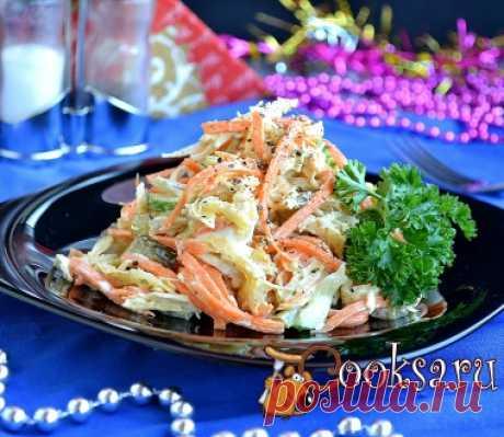 """Салат """"Рыжик"""" с курицей и корейской морковью фото рецепт приготовления"""