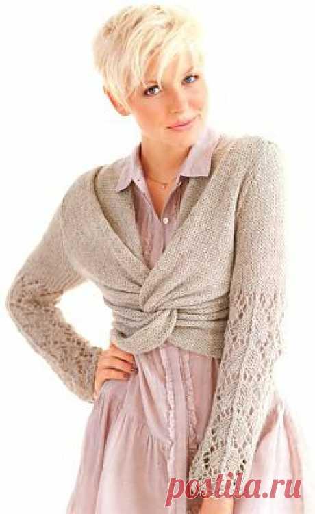 Короткий пуловер | ДОМОСЕДКА
