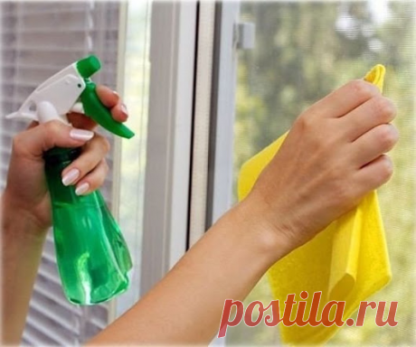 Раствор для сохранения чистоты окон надолго