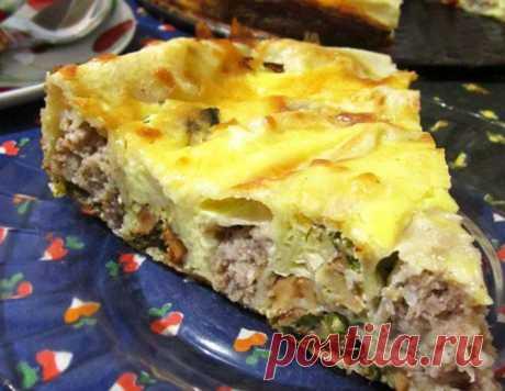 Воскресный пирог из лаваша – кулинарный рецепт