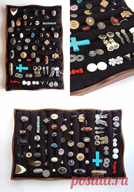 Органайзер для колец и серёг / Организованное хранение / Модный сайт о стильной переделке одежды и интерьера