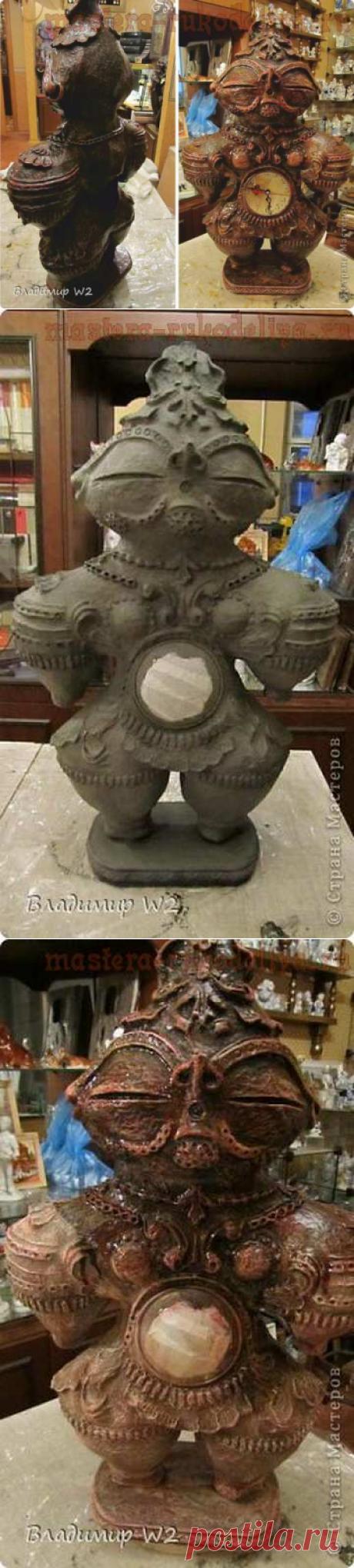 Мастер-класс по папье-маше: Скульптура Догу