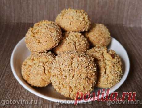 Медовое печенье с грецким орехом / Готовим.РУ