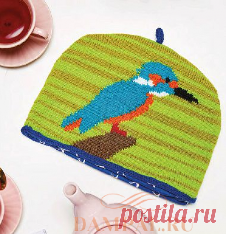 Грелка на чайник «Зимородок»   DAMские PALьчики. ru