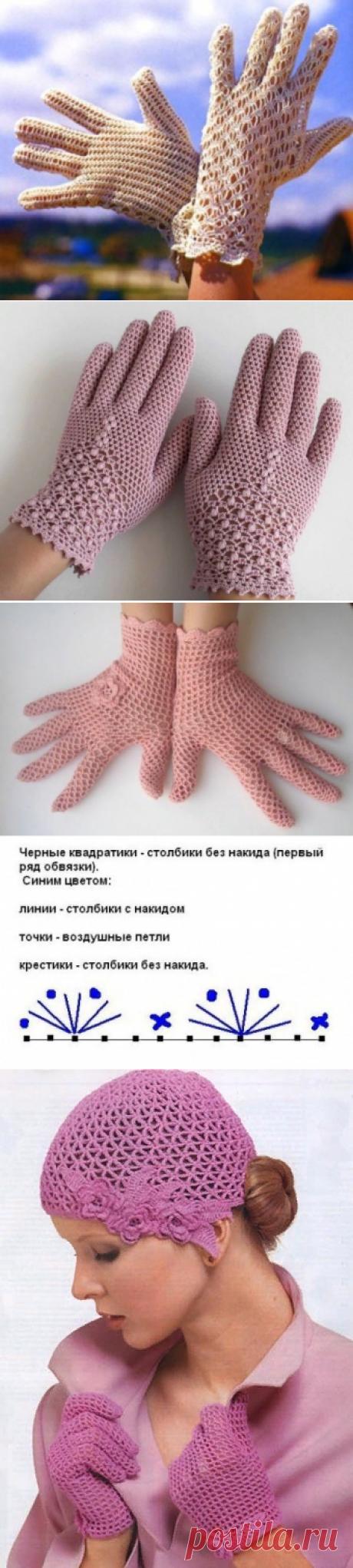 Элегантность в образе. Кружевные летние перчатки Крючком + схемы | Что умею, тем делюсь! | Яндекс Дзен
