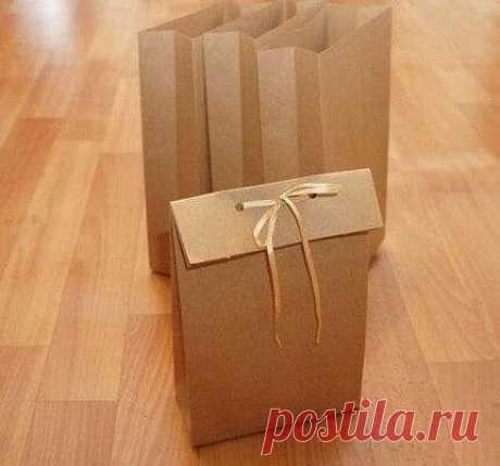 Подарочный пакетик своими руками без выкройки
