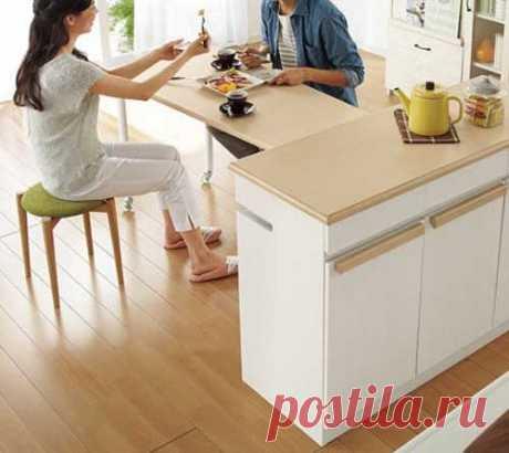 Удобный кухонный стол-трансформер — Сделай сам, идеи для творчества - DIY Ideas