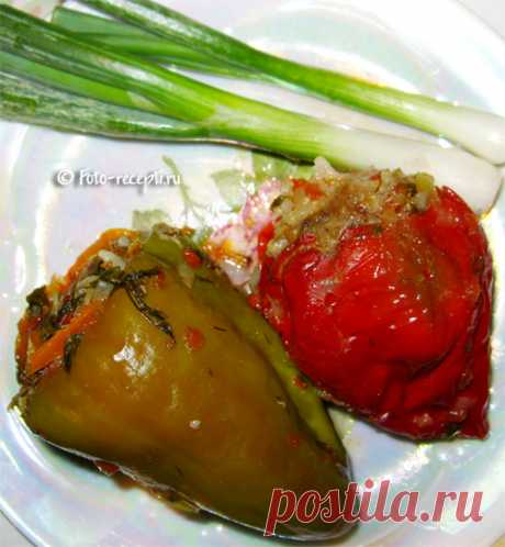 Фаршированный перец с мясом и рисом - Фото-рецепты пошагового приготовления