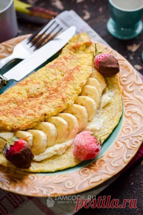 Овсяноблин с творогом и бананом — рецепт с фото пошагово