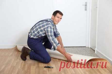 How to stack a carpet, linoleum, a stopper | our houses