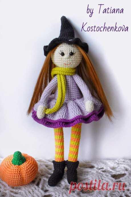 PDF Ведьмочка Хлоя крючком. FREE crochet pattern; Аmigurumi doll patterns. Амигуруми схемы и описания на русском. Вязаные игрушки и поделки своими руками #amimore - Кукла, doll puppet, muñeca boneca, poupée, puppe, panenka, bebek, lalka. Amigurumi doll pattern free; amigurumi patterns; amigurumi crochet; amigurumi crochet patterns; amigurumi patterns free; amigurumi today.