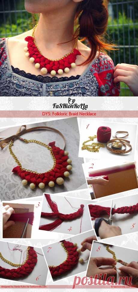 Колье из ниток (мастер-класс) / Украшения и бижутерия / Модный сайт о стильной переделке одежды и интерьера