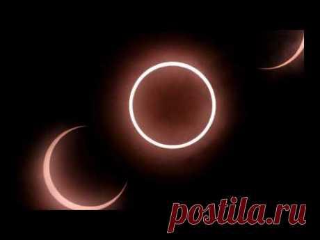 """Затмение солнца 2019. Вокруг солнца Солнца образуется """"огненное кольцо"""" - YouTube"""