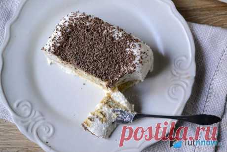 Торт без выпечки из печенья и творога – рецепт с фото
