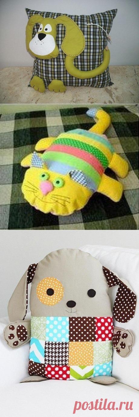 Original pillows in a nursery