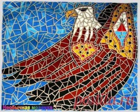 UNUSUAL MOSAIC: Ptichka-nevelichka or bird of happiness?