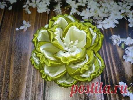 Цветы из лент канзаши. Как сделать цветы из лент. Цветы  из лент