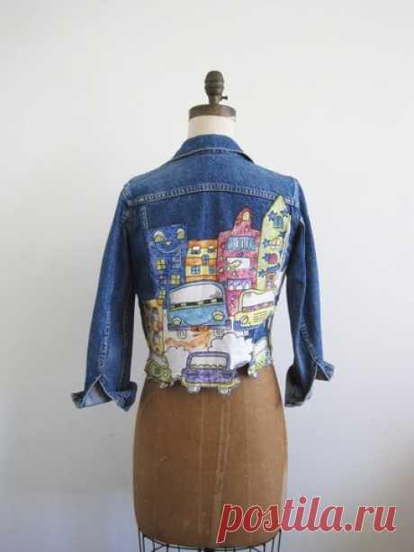 переделки джинсовой куртки - Google Search