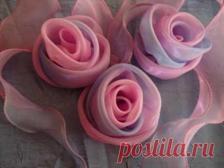 М.К. Розы из органзы.